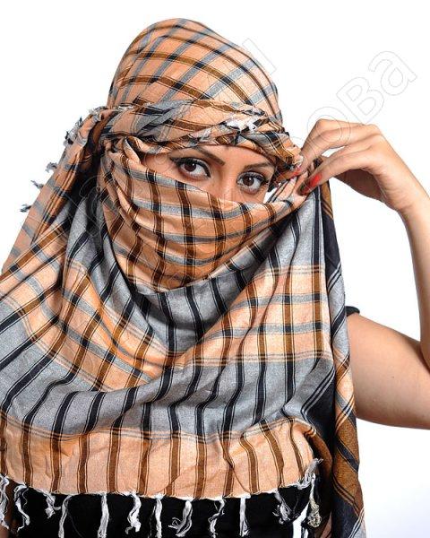 """Стильная арабская арафатка (куфия) """"Тафсиль"""" премиум качества из натурального хлопка"""