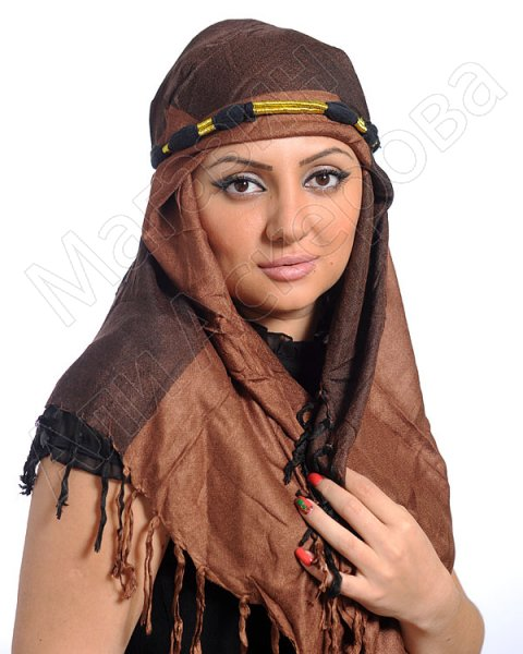 """Стильная арабская куфия """"Дыхание Арабистана"""" с кистями"""