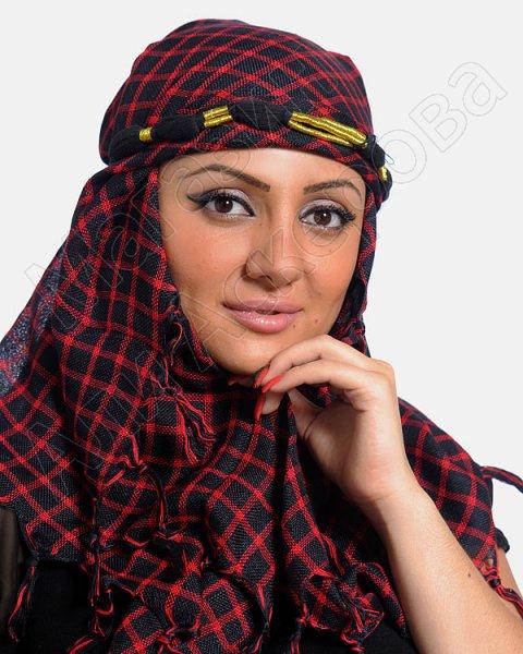 """Стильная арабская куфия """"Затмение солнца"""" с кистями"""