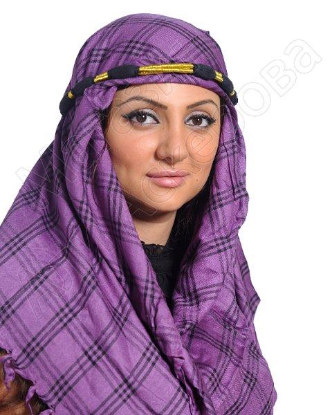 """Стильная арабская куфия """"Оазис в пустыне-2"""" с кистями"""