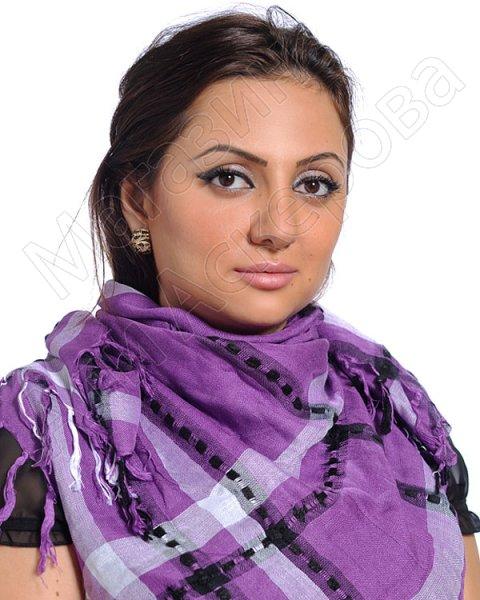 """Стильная арабская куфия """"Оазис в пустыне"""" с кистями"""