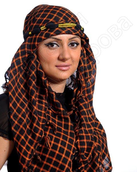 """Стильная арабская куфия """"Горы в пустыне"""" с кистями"""