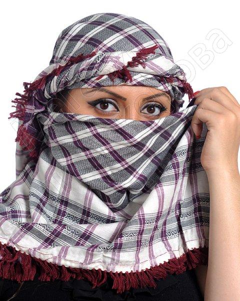 """Стильная арабская арафатка (куфия) премиум качества """"Хассият"""" из натурального хлопка"""