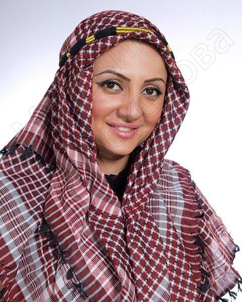 """Стильная арабская арафатка (куфия) премиум качества """"Курейша"""" из натурального хлопка"""