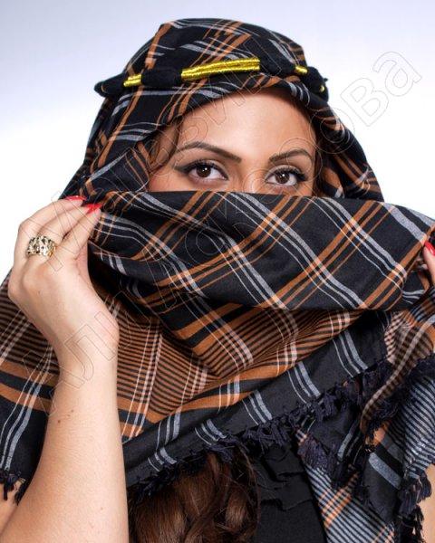 """Стильная арабская арафатка (куфия) """"Ахират"""" из натурального хлопка с кистьями"""