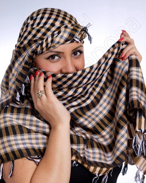 """Стильная арабская арафатка (куфия) премиум качества """"Баракат"""" из натурального хлопка"""