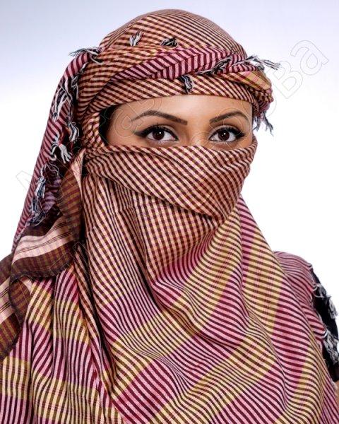 """Стильная арабская арафатка (куфия) премиум качества """"Аманият"""" из натурального хлопка"""
