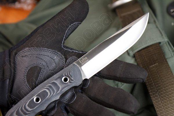 Нож Echo Kizlyar Supreme (сталь D2 Satin, рукоять G10)