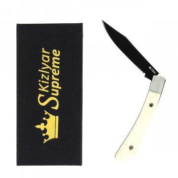Складной нож Gent (сталь 440C Bone Black Titanium, рукоять кость)