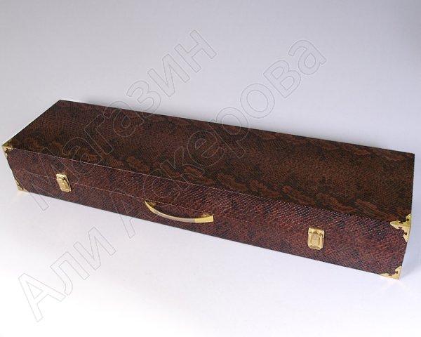 Кизлярский шашлычный набор в подарочном кейсе (каштановый)