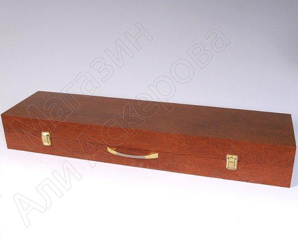 Кизлярский шашлычный набор в подарочном кейсе (коричневый)