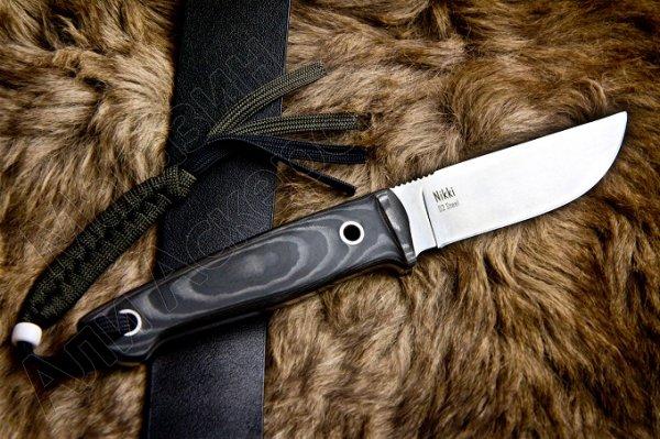Нож Nikki Kizlyar Supreme (сталь D2 Satin, рукоять микарта)