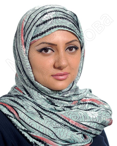 """Арабский шелковый палантин премиум качества """"Речные воды"""""""