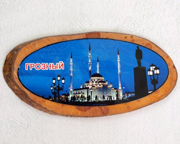 """Магнитик деревянный ручной работы """"Мечеть в Грозном"""""""