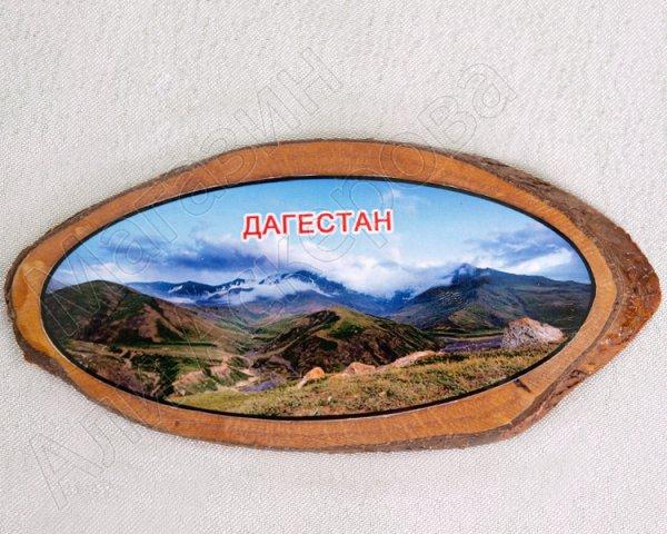 """Магнитик деревянный ручной работы """"Природа Дагестана"""""""