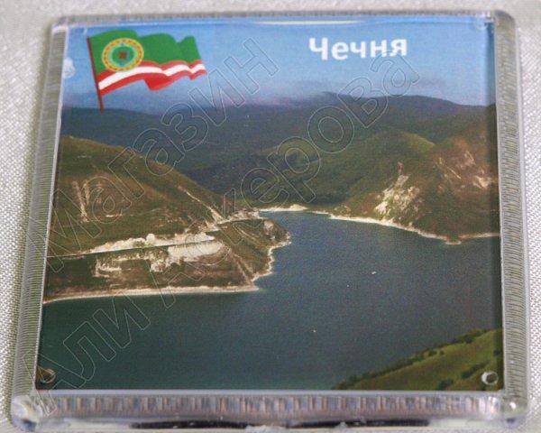 "Магнитик ""Панорамы Чечни"" квадратный пластик"
