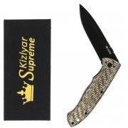 """Складной нож """"Vega"""" (сталь - 440C BT, рукоять - микарта)"""