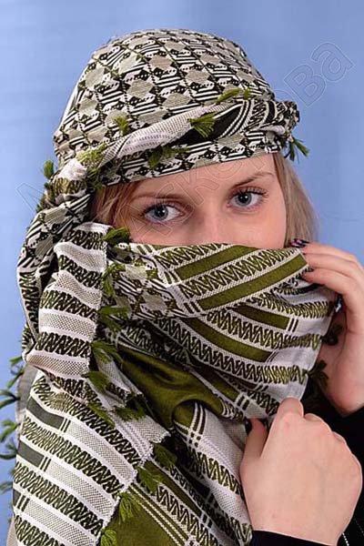 """Стильная арабская арафатка (куфия) премиум качества """"Интиха"""""""