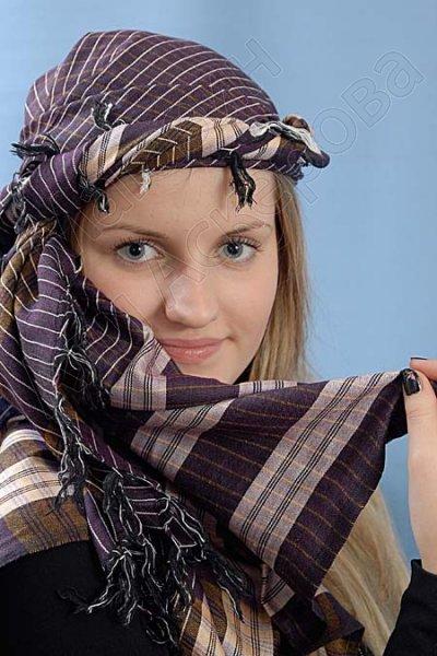"""Стильная арабская арафатка (куфия) """"Мускан"""" из натурального хлопка"""