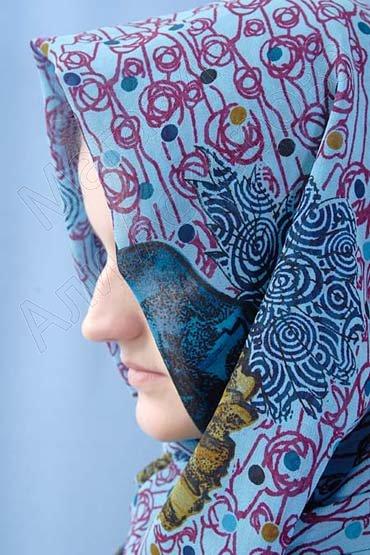 """Арабский шелковый палантин премиум качества """"Арабская волна"""""""