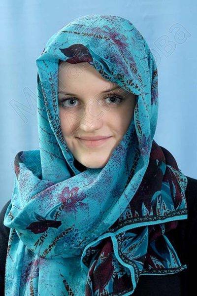 """Мусульманский шифоновый шарф премиум качества """"Нефертити"""""""