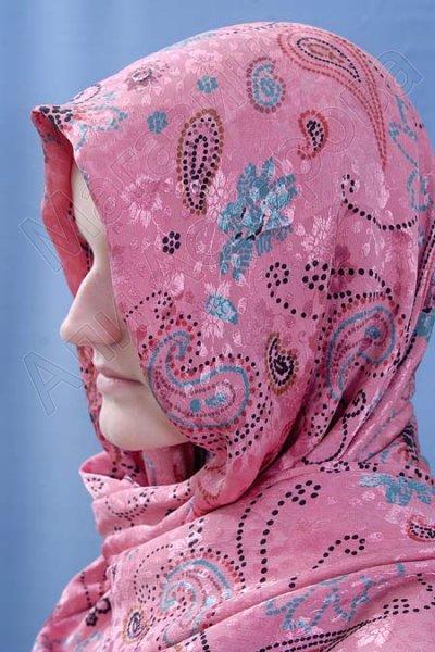Мусульманский шелковый шарф премиум качества с набивным купоном