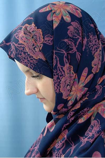 """Арабский шелковый палантин премиум качества """"Раййян"""" с цветочным мотивом"""