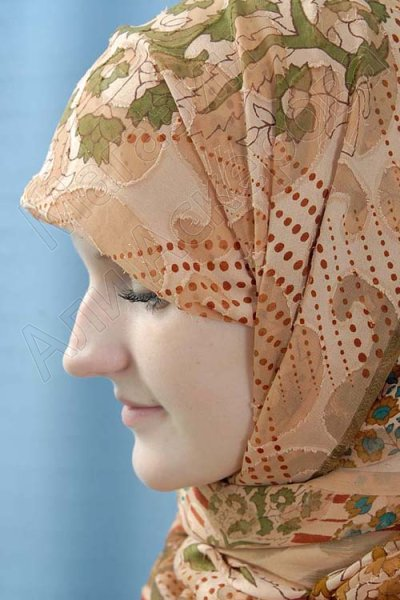 """Мусульманский шелковый палантин премиум качества """"Хава"""""""