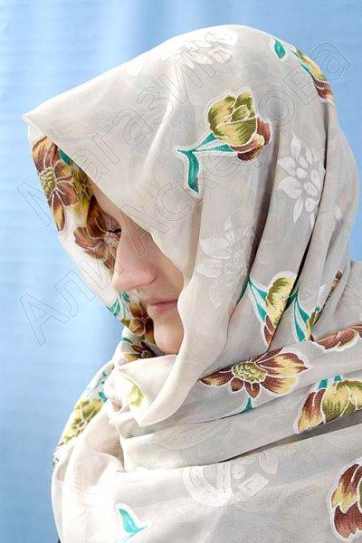 """Арабский шелковый палантин премиум качества """"Цветочный рай"""""""