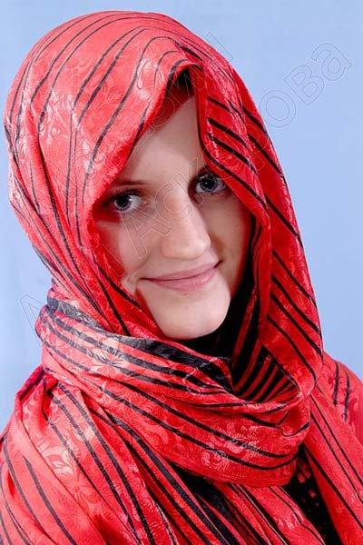 """Арабский шелковый палантин премиум качества """"Стриппи Классикс"""""""