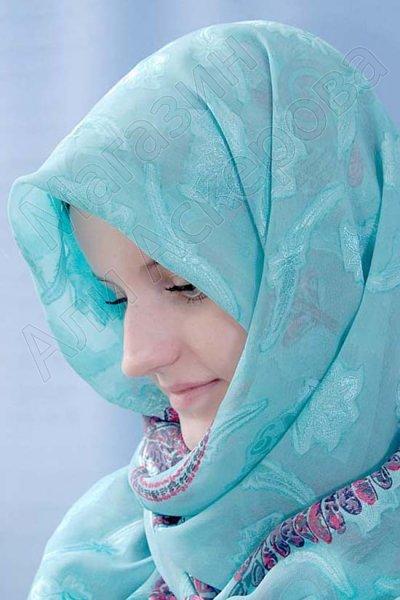 """Арабский шелковый палантин премиум качества """"Летнее небо"""""""