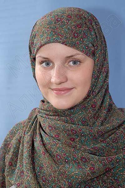 """Мусульманский шифоновый платок премиум качества """"Восточная амбра"""""""