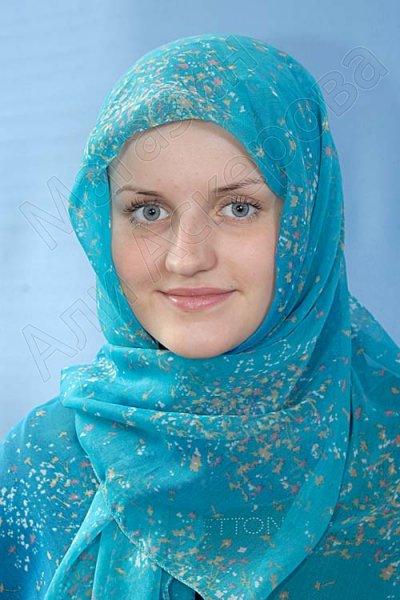 """Мусульманский шелковый платок премиум качества """"Звездное небо"""""""