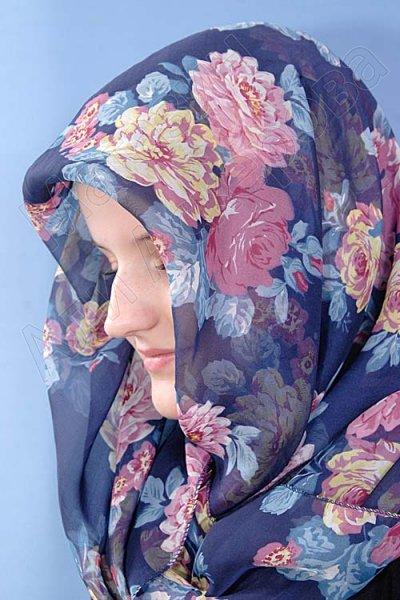 """Мусульманский шифоновый платок премиум качества """"Улыбка незнакомки"""""""