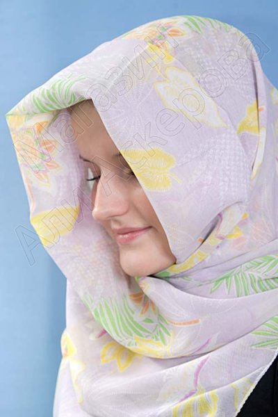 """Мусульманский шифоновый платок премиум качества """"Прелестный взгляд"""""""