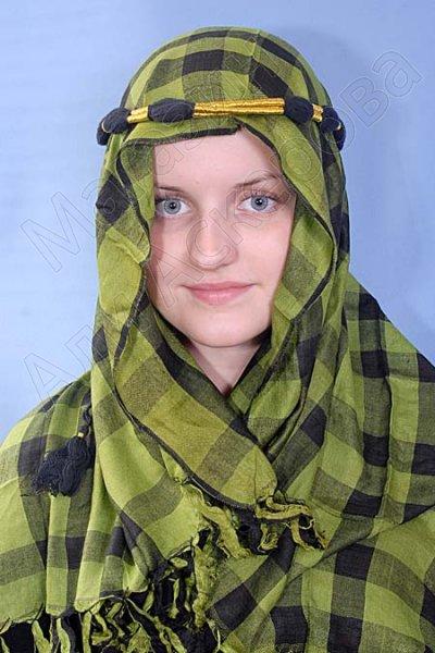 """Стильная арабская куфия """"Халифа"""" с кистями"""