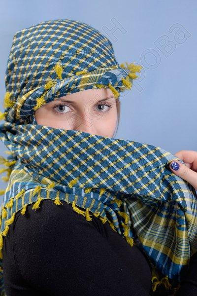 """Стильная арабская арафатка (шемаг) премиум качества """"Нешмиа"""""""