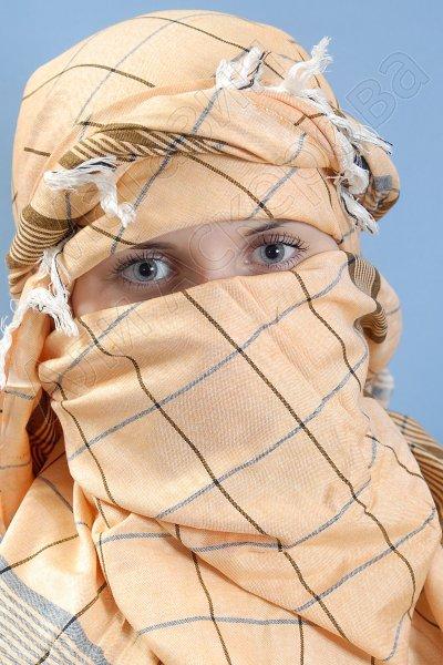 """Стильная арабская арафатка (куфия) """"Мустанг"""" из натурального хлопка"""