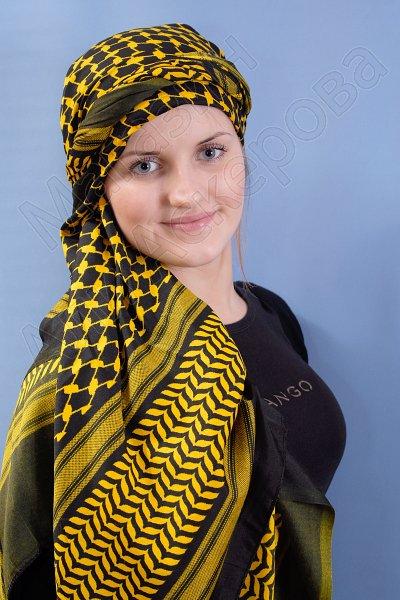 """Стильная арабская арафатка (куфия) премиум качества """"Дастан"""""""