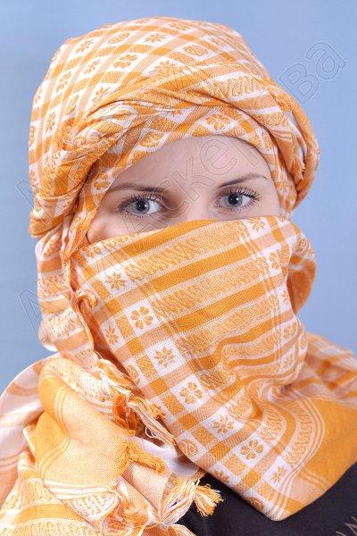 """Стильная арабская арафатка (куфия) премиум качества """"Пески вечности"""""""