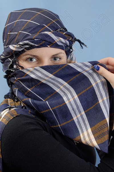 """Стильная арабская арафатка (куфия) """"Самадр"""" из натурального хлопка"""