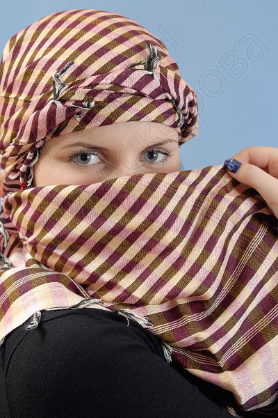 """Стильная арабская арафатка (куфия) премиум качества """"Шеййла"""""""