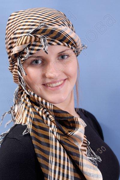 """Стильная арабская арафатка (куфия) премиум качества """"Барханы"""""""