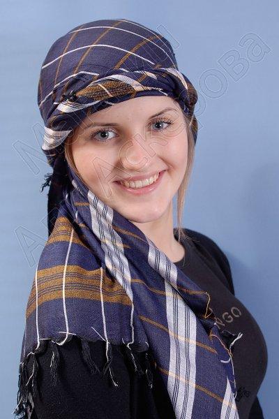 """Стильная арабская арафатка (шемаг) премиум качества """"Бриз"""" из натурального хлопка"""