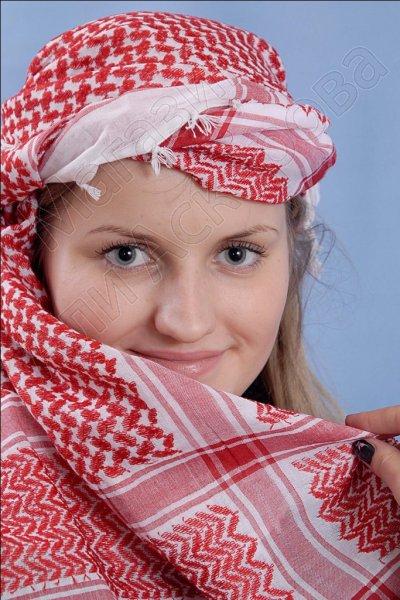 """Стильная арабская арафатка (куфия) """"Миср"""" из натурального хлопка"""