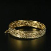 Кубачинский серебряный браслет с позолотой арт.10718