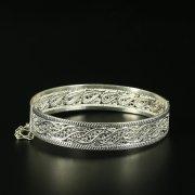 Кубачинский серебряный браслет с филигранью арт.10724