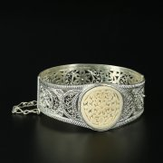 Кубачинский серебряный браслет с филигранью арт.10727