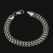 Серебряный браслет Кобра 23 см (ширина 1 см)