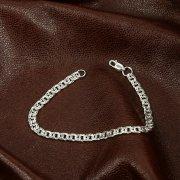 Серебряный браслет Бисмарк 22 см (ширина 0,45 см)